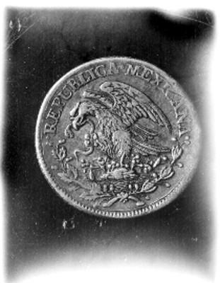 Moneda con el Escudo Nacional, reverso