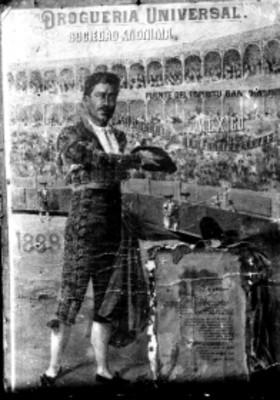 Ponciano Díaz, torero, cartel publicitario