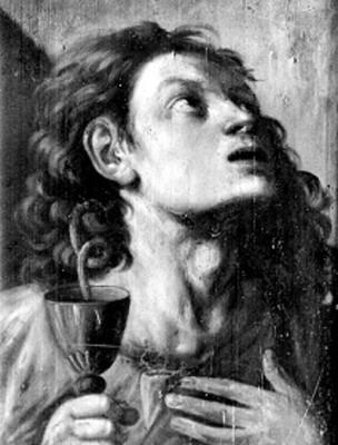 San Benito de Nursia, pintura al óleo