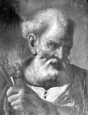 Apostol San Pedro, pintura al óleo