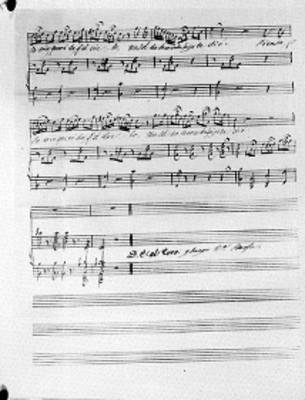 Fragmento, música y letra de la primera estrofa del himno Nacional Mexicano