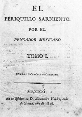 El Periquillo Sarniento, portada de libro, reproducción