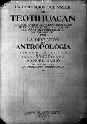 """""""La población del Valle de Teotihuacán"""", reproducción bibliográfica"""