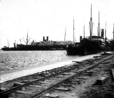Muelle Porfirio Díaz en construcción, vista general