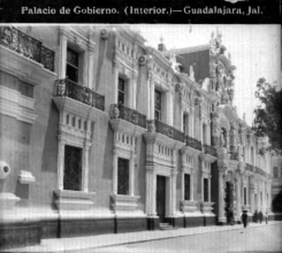 """""""Palacio de Gobierno. (Interior). Guadalajara, Jal."""" (sic)"""