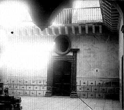 Patio de la casa que habitó Ignacio Allende, vista parcial