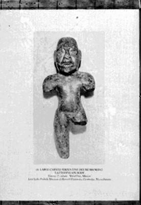 Escultura antropomorfa totonaca, reprografía