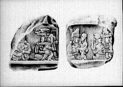 Lápidas olmecas antropomorfas, reproducción