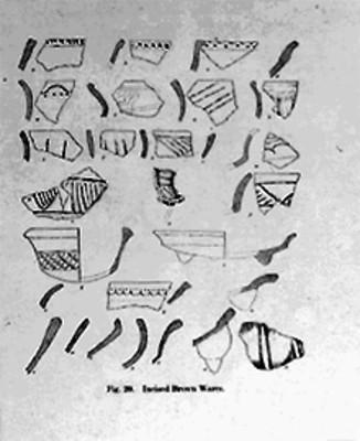 Instrumentos de trabajo prehispánicos, dibujo