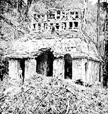 Templo del Sol, fachada, reprografía
