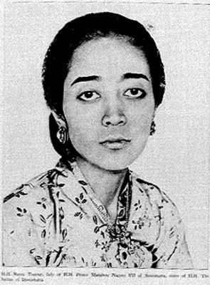 Retrato del la princesa Mangkov Nagoro, reprografía