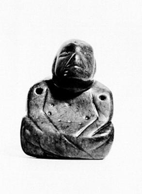 Escultura antropomorfa sedente, reprografía