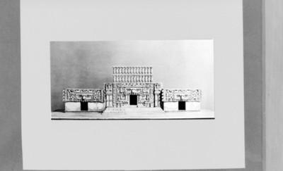 Palacio principal en Hochob, maqueta, reprografía