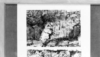 Detalle de lápida con figura zoomorfa, reprografía