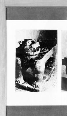 Trono prehispánico en forma de jaguar, reprografía