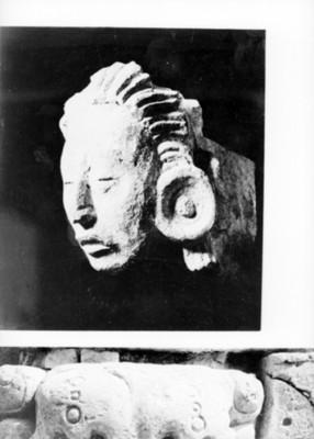 Escultura antropomorfa estucadas, reprografía