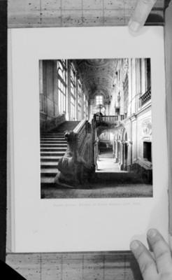 Escalinata proyectada por Felipe Juvara en el Palacio Madama, reprografía