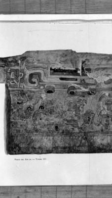 Pintura inerior de la tumba 105, reprografía