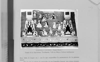 Ilustración de pintura mural en el Templo de la Agricultura, reprografía