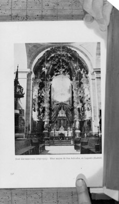 Iglesia de San Salvador, altar mayor, reprografía