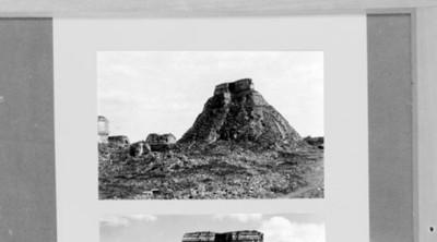 Templo del adivino antes de su restauración, reprografía