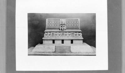 Dibujo del templo III de Yaxchilán, reprografía