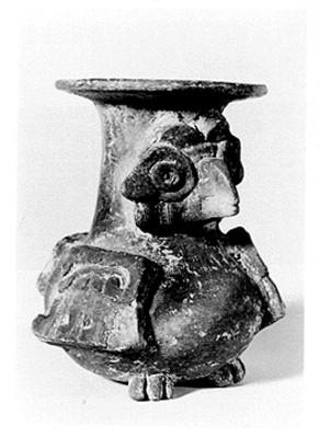Urna con figura ave, reprografía