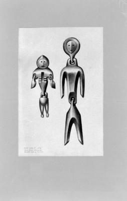Muñecas Goldi, piezas del Museo de la Ciencia en Búfalo, ilustración