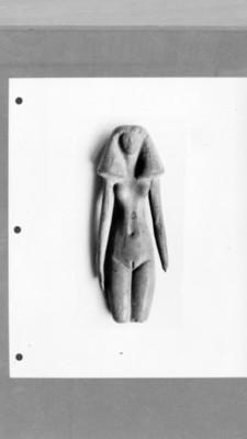 Detalle de escultura femenina, reprografía
