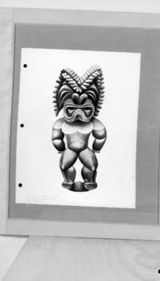 Escultura de la Polinesia, reprografía