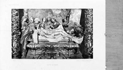 Santo entierro, en la Iglesia de la Caridad, reprografía