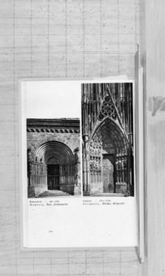 Portadas estilo romano y gótico, reprografía