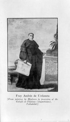Retrato de Fray Andrés de Urdaneta, reprografía bibliográfica