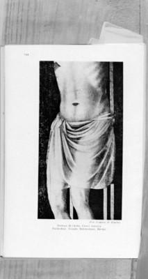 Detalle de la crucifixión, pintura de Giotto en interior de la Catedral de Rímini