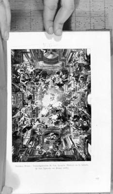 """""""Transfiguración de San Ignacio. Pintura en la bóveda de San Ignacio en Roma"""", reprografía"""