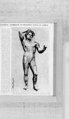 Ilustración escultura de Apolo realizada en marfil, reprografía