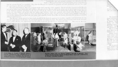 Imágenes de funcionarios y sala del museo de Nashville, reprografía