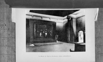 La Ronde de Nuit de Rembrandt, exhibida en el museo de Ámsterdam, reprografía