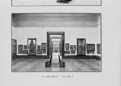 Interior de la sala de exhibición de pinturas, reprografía