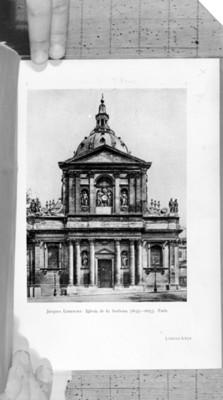 Iglesia de la Sorbona, fachada principal, ilustración