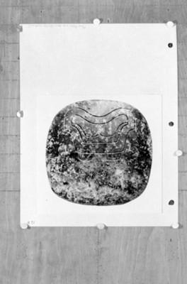 Placa-disco esgrafiada, reprografía