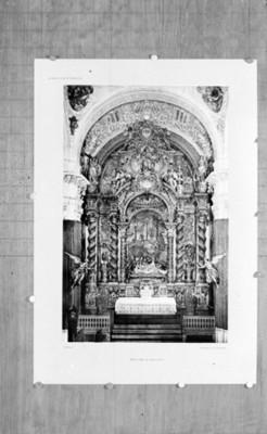 Retablo mayor en la Iglesia de La Caridad en Sevilla, reprografía