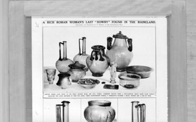 Lote de objetos funerarios romanos, reprografía