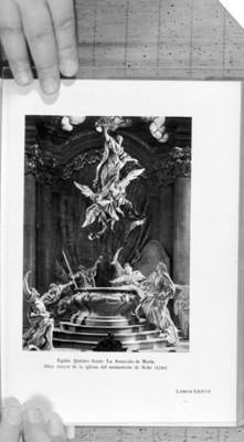 Escultura de La asunción de María, reprografía