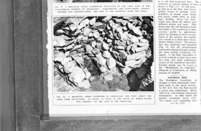 Excavaciones de un baño Nordico en Groenlandia, reprografía