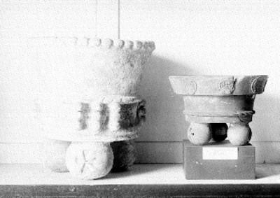 Braseros prehispánicos, exhibidos en el Museo Nacional de Arqueología, Historia y Etnología