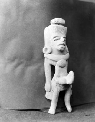Escultura antropomorfa teotihuacana en el Museo Nacional