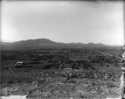 Campos agrícolas cercanos al sitio de Teotihuacán