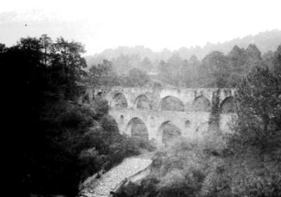 Acueducto en Orizaba, paisaje