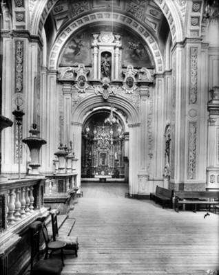 Capilla del Señor de Contreras en la iglesia del Carmen en San Ángel, interior